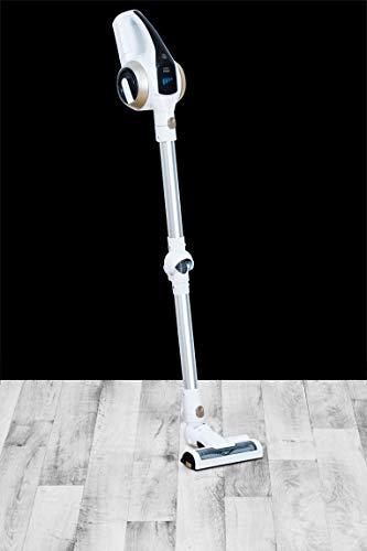 Livington Prime 3-in-1 Akku Staubsauger – kabelloser Staubsauger mit Knickgelenk für schwer erreichbare Stellen – leichter Staubsauger ohne Beutel