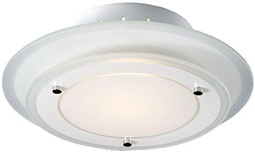 Deckenleuchte Deckenlampe Beleuchtung rund Metall Glas Lampe Leuchte Esto 40125