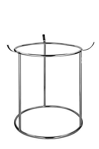 Fink - Ständer für Adventskranz Corona - Metall vernickelt - Ø 30 cm - Höhe 70 cm
