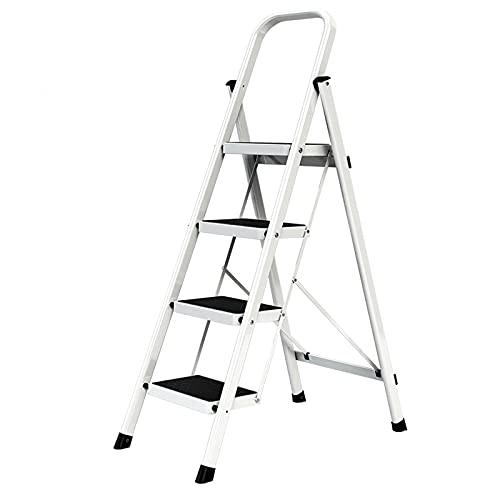 ADSE Escalera de Aluminio de 6 escalones, escaleras de Mano Plegables, Cocina...