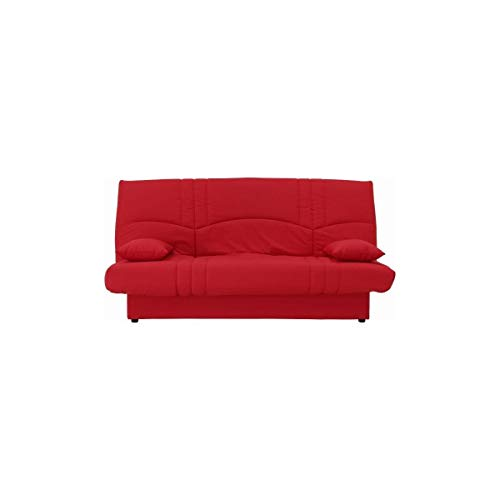 Clic clac 3 places Rouge Tissu Contemporain