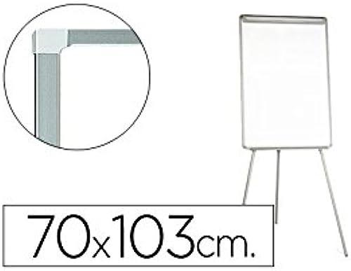 Q-Connect 938181 eg Konferenz Magnettafel Rahmen Kunststoff Zange Block Papier mit anStückbarer Stifteablage 70 103 206cm Weiß