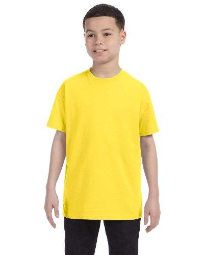 Hanes boys Cotton T-Shirt(5450)-Yellow-L