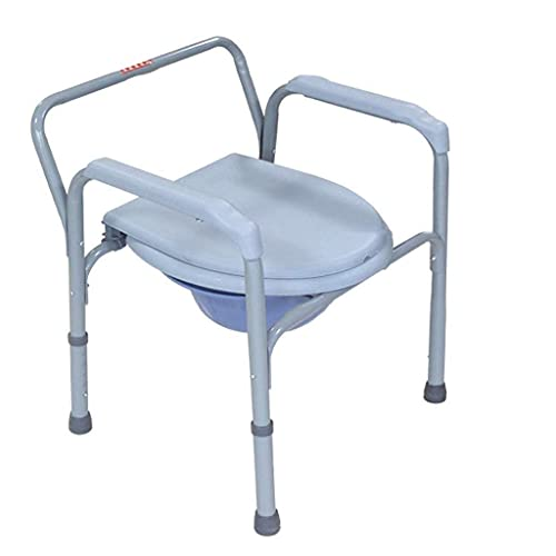 Commode Chair, Bedroom Toilet, Adult Bedside Toilet, Folding Stainless Steel Safety Frame Shower Chair, Old Man Potty Commode Chair