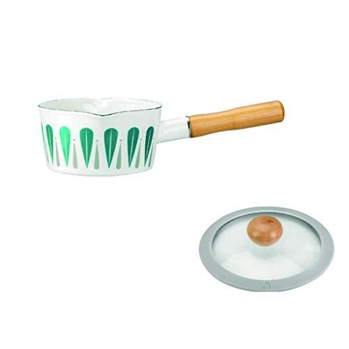 AYCPG Petit Batterie de Cuisine en émail antiadhésif Lait pan / 5.9in / Couvercle en Verre Transparent, Multi-Fonction/Cuisinière à Induction/gaz Naturel/Anti-brûlure poignée Petite Sauce Pot KTKTT