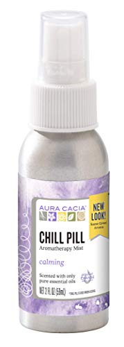 Aura Cacia Chill Pill Mist | GC/MS Tested for Purity | 59 ml (2 fl. oz.)