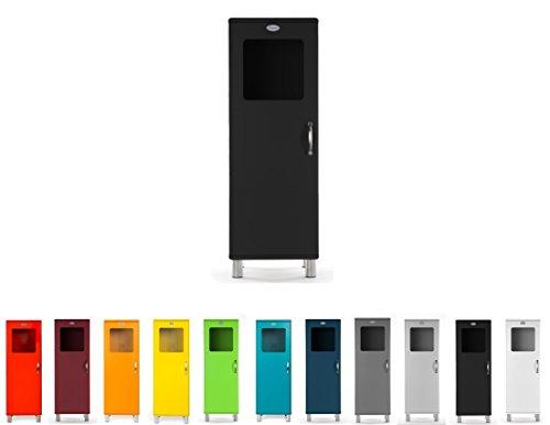 TENZO Malibu Designer Rangement 1 Porte Lucarne L 50, Panneaux de Particules & MDF, Noir, 50 x 41 x 143 cm