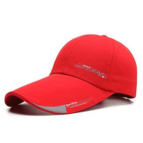 Sombreros para el Sol al Aire Libre de Verano Gorra de Pesca de Golf Impermeable de Secado rápido Gorras debéisbol Unisex Ajustables-Red Baseball Cap