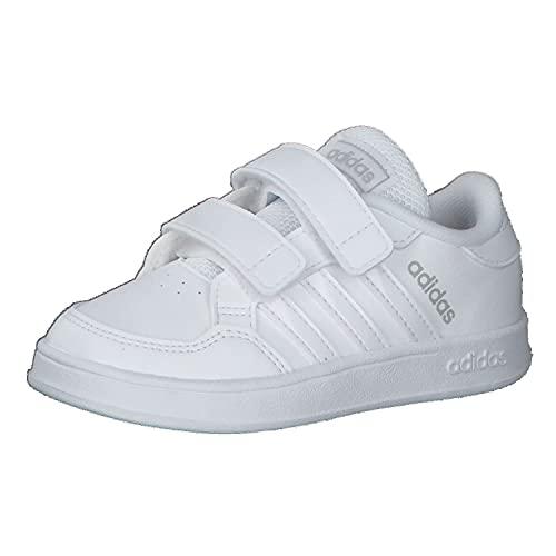adidas BREAKNET I,  Zapatillas de Tenis Unisex bebé,  FTWBLA/FTWBLA/FTWBLA,  20 EU