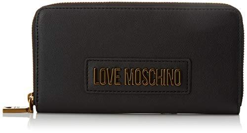 Love Moschino Jc5627pp0a, Portafoglio Donna, Nero (Black), 2x10x20 cm (W x H x L)