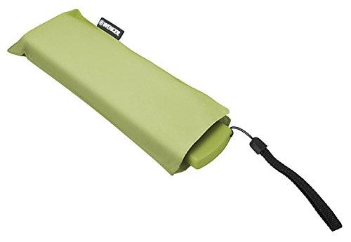 Wenger Taschenschirm Ultraflach Manuell, Fiberglas Regenschirm, Hellgrün