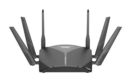 D-Link DIR-3060 AC3000 EXO Smart Mesh Wi-Fi Router (2,4 & 2 x 5 GHz, 3.000 Mbit/s, 802.11a/b/g/n/ac, 2 x USB 3.0 & 2.0, 4 x 10/100/1000 LAN-Anschluss, McAfee Protection, Tischgerät)