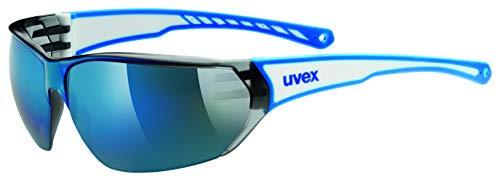 uvex Unisex– Erwachsene Sportbrille Sgl 204, White Blue, Einheitsgröße