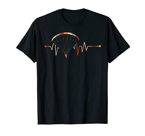 Gleitschirmfliegen Geschenk für Paraglider EKG Paragliding T-Shirt