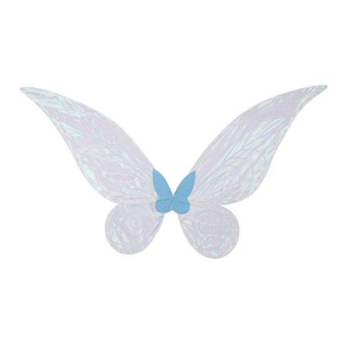 MagiDeal Costume Ali di Angelo Farfalla Fata Colore Blu Bianco Angel Fairy Wing Fancy Dress Props Accessori di Festa Halloween Natale Capodanno Carnevale - Blu, Ragazzo