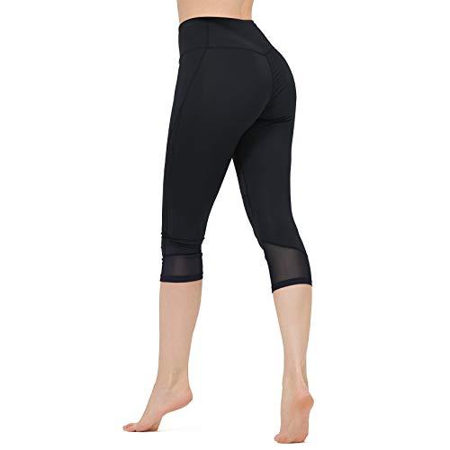 CAMEL CROWN 3/4 Pantaloni Yoga da Donna Tummy Control Leggings Sportivi Capri Donna Elastici Collant...