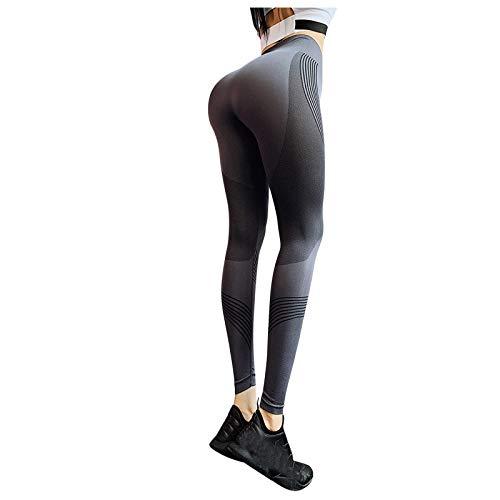 GenericBrands Leggings Sin Costuras Corte Pantalones de Yoga Ajustadosde Malla Mujer Pantalon Deportivo Alta Cintura Yoga Elásticos Fitness Seamless