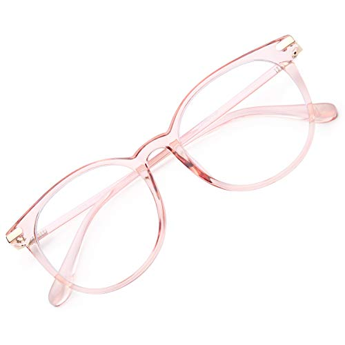 Gaoye Blue Light Blocking Glasses for Women Men,Computer Eyeglasses TR90 Lightweight Frame Anti UV Lens - GY1688 (Pink Frame/Transparent Lens)