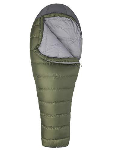 Marmot Ironwood 30 Mummy Lightweight Down-filled Sleeping Bag, 30-Degree Rating, Bomber Green/Steel Onyx