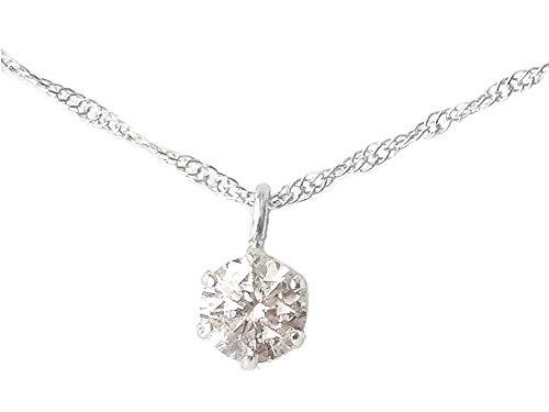 [あなたと私の宝石箱] ダイヤモンド ネックレス プラチナ 一粒 ダイヤ ペンダント0.1カラット 【誕生石4月】 【ギフトラッピング済み】 4016