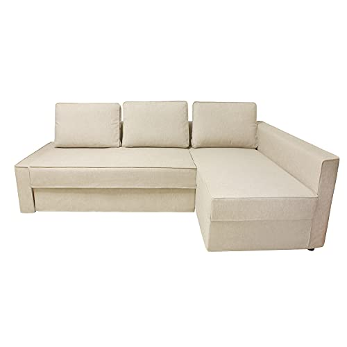 CRIUSJA Couch Cover for IKEA Friheten Sofa Bed Sleeper, Couch Covers for Small Corner Couch, Sofa Slipcovers for Living Room, Couch Cover with Cushion and Throw Pillow Covers (8018-3, Right Chaise)