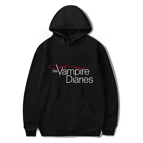 The Vampire Diaries Felpe Con Cappuccio Uomini/Donne Manica Lunga Hodies Pullover Felpe Casual Oversize Unisex Vestiti Nero M