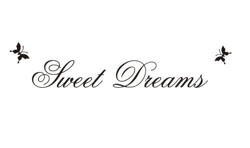 Restly Sweet Dream papillon po¨¦sie anglaise Stickers muraux autocollants Salon Stickers Muraux D¨¦cor
