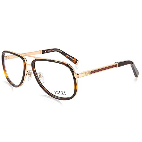 ZILLI Designer Eyeglasses for Men Eyewear 24K Gold Plated Frame Glasses 60020