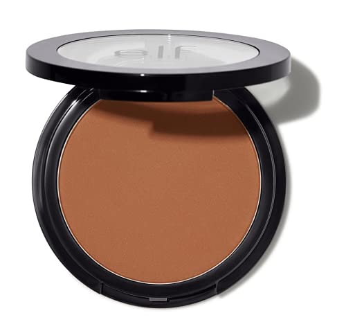 e.l.f, Primer Infused Bronzer, Long-Wear, Bold, Lightweight, Blends Easily, Contours Cheeks, Constantly Bronzed, All-Day Wear, 0.35 Oz
