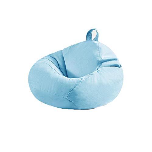 Bean Bags Adult High Back Bean Bag Chair Perfekte Lounge Oder Gaming Chair Haus Oder Im Garten Bean Bag Outdoor Sitzsäcke (Color : Light Blue, Size : 100 * 120CM)