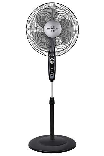 Orbegozo SF 3347 Ventilador de pie, 3 velocidades de ventilación, temporizador, 3 aspas, altura regulable, 50 W, plastico/Metal