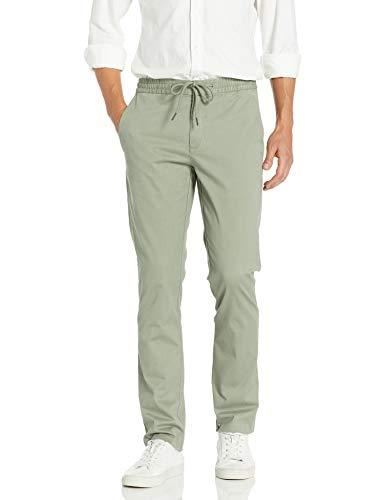 Amazon Brand - Goodthreads Men's Slim-Fit Washed Chino Drawstring Pant, Fatigue Medium/30\