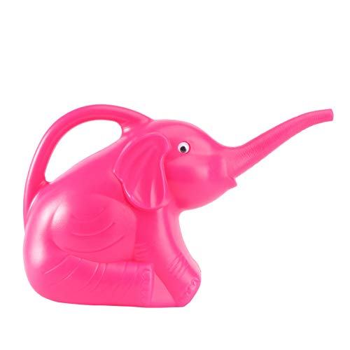 OUNONA Annaffiatoio bambini Spruzzatore a pressione a forma di elefante in plastica Annaffiatoio per giardino (arancio)