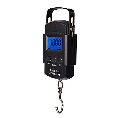 Hand LCD Digitale Personenwaagen Elektronische Digitalwaage,Tragbar Reise Fisch Gepäck Hängendes Hakengewicht Digitale waage mit Maßband
