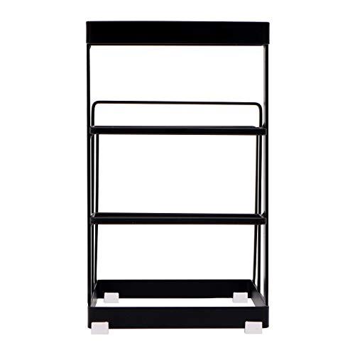 Livzing Multipurpose Kitchen Cabinet Storage Organizer - Chopping Cutting Board Holder - Knife Block Stand - Dish Countertop Cookware Plate Pantry Rack (Black), Metal