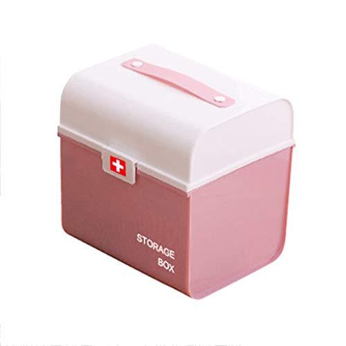 Multifunctionele opbergdoos Home Draagbare Medicine Box Kunststof Multilayer EHBO-opbergdoos