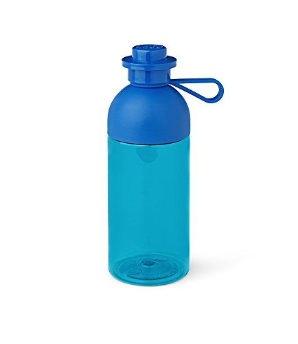 Room Copenhagen Trinkflasche 0,5l, Polypropylen, Transparent Blau, 0 cm