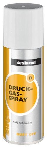 Teslanol 26002 Druckluftspray zum Reinigen und Entstauben von elektronischen und feinmechanischen Geräten - 200 ml