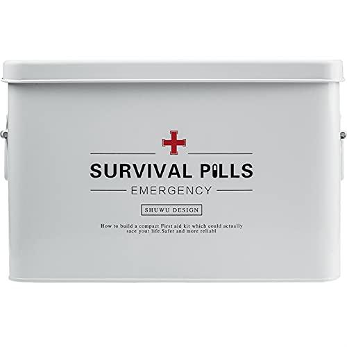 Caja médica Caja grande de medicina Caja de primeros auxilios para uso doméstico Multifunción Multi-función Multi-capa de primeros auxilios Médico almacenamiento ( Color : White , Size : 22x16cm )