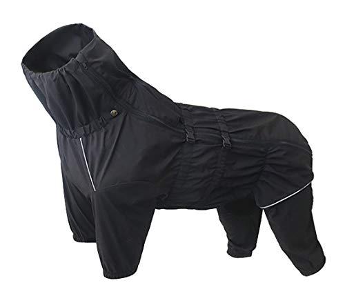 Geyecete Regenjacke für Hunde, mit halbem Beinen, wasserdicht, reflektierend, Vierbein-Regenanzug für Welpen, kleine und mittelgroße Haustiere.