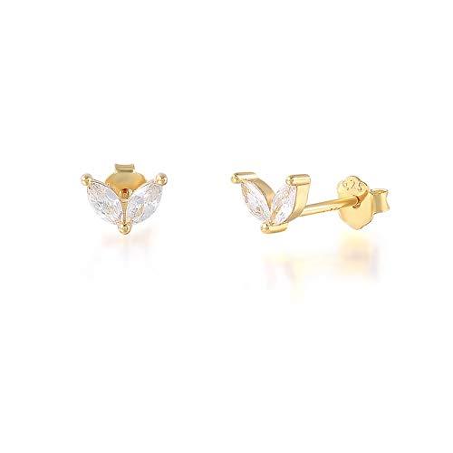 Arete 2 pares encantador conejito orejas perno pendientes para mujeres niñas lindas conejo orejas piercing pendientes cartílago 925 joyería de plata esterlina para mujeres niñas ( Gem Color : A gold )