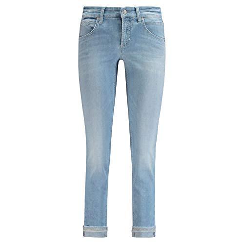 Cambio Verkürzte Slim-Fit Jeans 'Pina' blau (5262 Summer Moon spl) 40 | 27