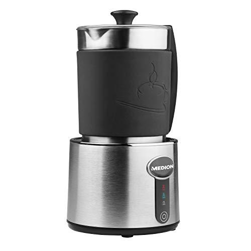 MEDION melkopschuimer, melk opschuimen en verwarmen in één, tot 230ml capaciteit, 550W vermogen, MD18286, zilver