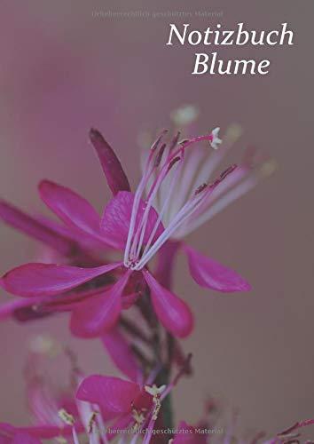 Notizbuch Blume Großformatiges für Mädchen und Frauen.: Ausgefallene Notizbücher oder Klassenhefte mit einer Dekoration aus Landblumen in 96 kleinen A4-Fliesen.