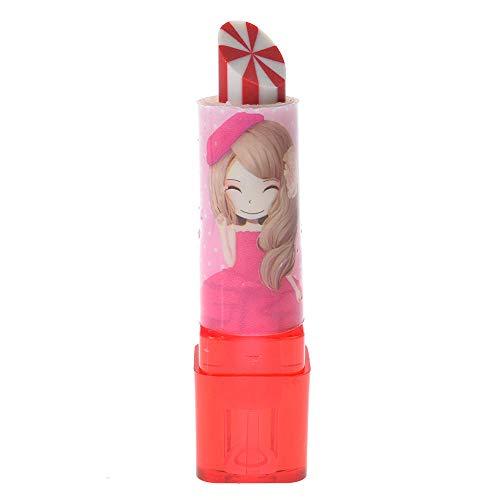 1 stuks schattige roterende lippenstift ontwerp rubberen gum nieuwe potlood gumcadeau voor kinderen
