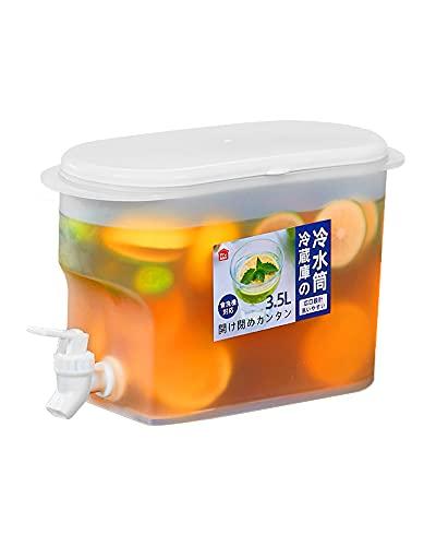 冷水筒 麦茶ポット クールシャープ 冷蔵庫ポット 熱湯可 ピッチャー 水出し 3.5L 蛇口付き 水タンク ティーポット 飲料水バケット