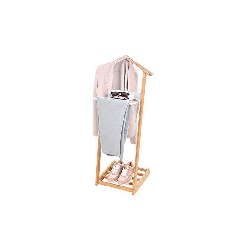 Domo Pack Living 83522 Galan de Noche Bambu con Repisa para Zapatos, 43.5x34x102 cm, Multicolor