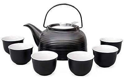 Service à thé/Grande Service de Nelly en résistant à la chaleur Thé en Céramique 1,5L Théière avec passoire en acier, et 6de thé Bonnets Original Aricola®