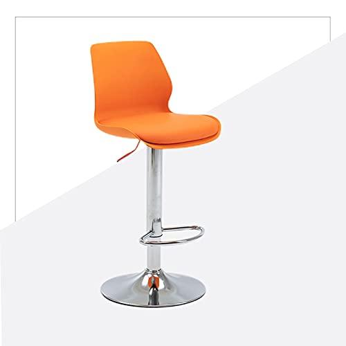 Taburetes para muebles de diseño moderno con altura ajustable y rotación de 360° para el hogar en interiores (tamaño: A, color: naranja)