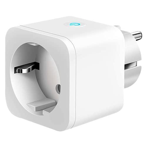 Nivian–Enchufe inteligente–Wifi 2.4 Ghz– Hasta 16 A y 3680W–Protección contra sobretensiones y control de consumo energético–Compatible con Amazon Alexa y Google Home Control remoto con APP Tuya